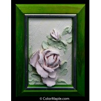 Handmade 3-dimensional plaster painting - Rose Flowers #2