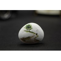 Hand-Painted Cobblestone Painting Stone - Creative Stone Lover Couple