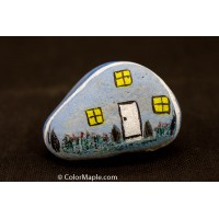 Hand-Painted Cobblestone Painting Stone - Creative Stone Home House